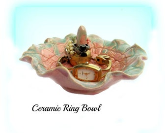 Ring Bowl, Ring Holder,  Ring dish,  Ceramic Jewelry Dish,  Pottery Ring Holder,  148