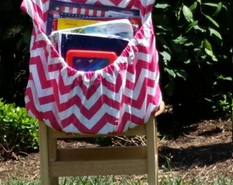 Candy PINK ChEvRoN // Seat Sacks // Chair Pockets // Teacher Classroom <<16 inch PREMIUM>> End of Year SALE CoffeeKidsNDolls