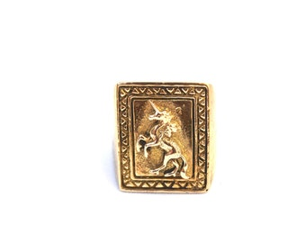 The Unicorn Ring | Heart Majestic | Unicorn Ring |  Unicorn jewelry | Best Friend Rings | Friendship rings | Unicorn gifts | Stamp Ring
