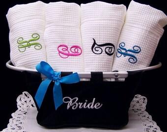 Set of 3 Bath Wraps Personalized Weddings Bridesmaids