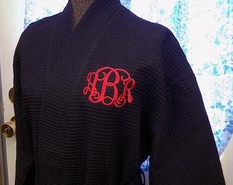 Set of 6 Personalized Waffle Weave Robes Kimono Spa Bridesmaid Gifts