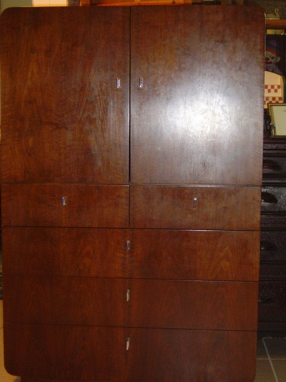 Items Similar To Founders Bedroom Dresser Vintage Chest Of Drawers Armoire Furniture Local