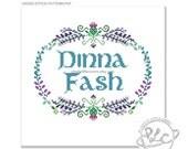 Dinna Fash. Outlander Inspired Sampler Pattern. Digital Download PDF.