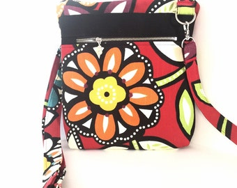 Cross Body Bag, Across The Body Bag, Adjustable strap, long handle purse, Travel Purse, Zippered Small Messenger Bag, #2014