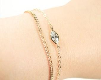 Leolani bracelet - gold bracelet, chain bracelet, gold chain bracelet, layering bracelet, gold bracelet, dainty bracelet, maui, hawaii