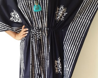 Batik Kaftan Maxi Dress,  Caftan, Cotton Dress, Baby Shower, Beach Cover Up,,  Bridesmaids Gift, Resort Wear, Maternity Dress, Plus Size