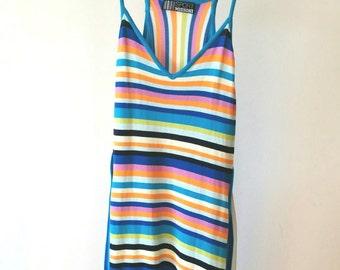 MISSONI Vintage Sport Made in Italy Multi Colour Summer Strap Dress, sz. 42 ITA
