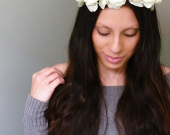 Floral Crown, Boho Flower Crown, Boho Headband, Flower Crown