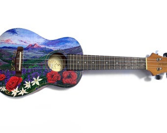 Hand-Painted Concert Ukulele - Greg Bennet UK50