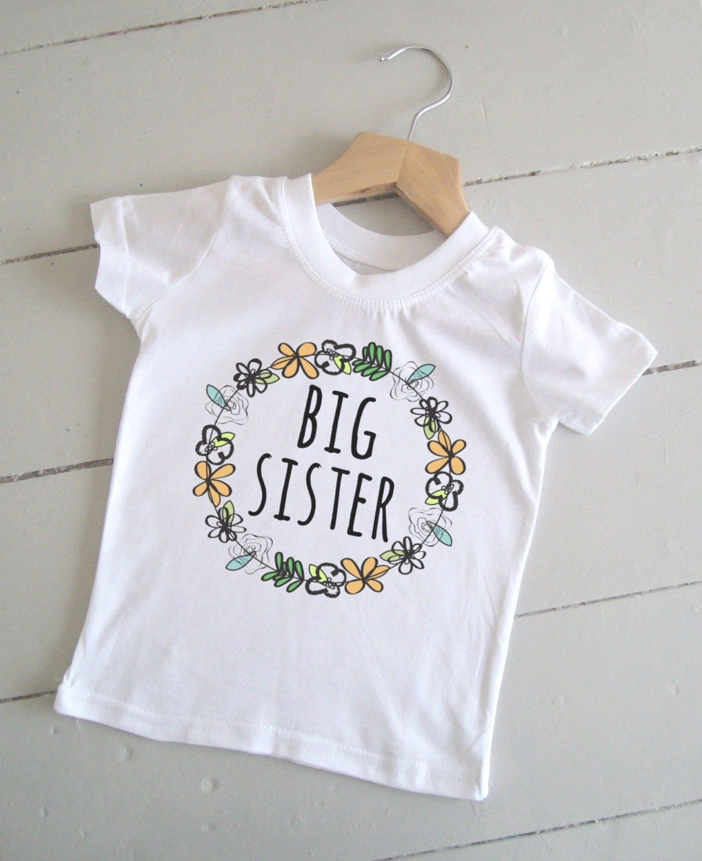 Floral Big Sister Shirt Big Sister Announcement / Big Sister