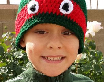 Ninja Turtle Crocheted Hat