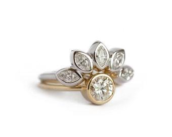 diamond set diamond wedding ring set diamond engagement ring unique wedding ring set - Unique Wedding Ring Sets