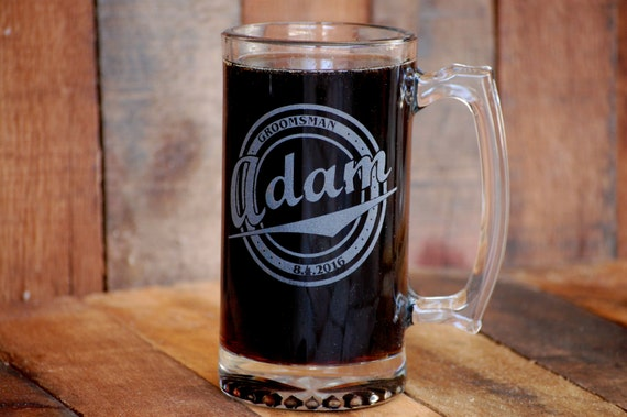 Mens Wedding Gifts From Bride: Personalized Wedding Gift Mens Beer Stein Wedding Party