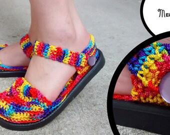 Crochet Rainbow Shoes - Nylon Flats