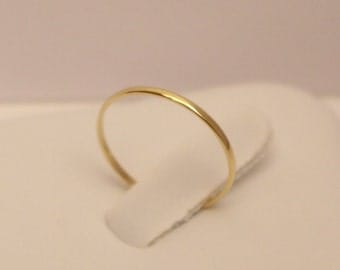 18k band ring, 18K Gold Ring, 18k half round ring, 18k gold ring, 18k gold band, 18k thumb ring, 18k midi ring, 18k knuckle ring
