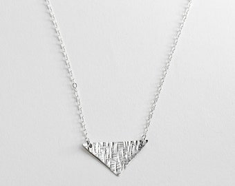 Triangle Necklace - Sterling Silver Necklace - Minimalist Necklace