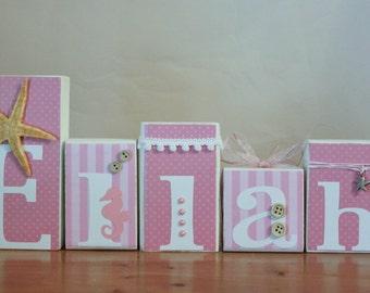 Pink Beach Nursery- Pink Starfish Decor- Starfish Baby Shower- Pink Starfish Nursery- Ocean Baby Shower- Seahorse Nursery Girl Ocean Nursery
