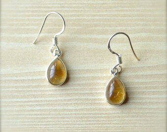 Drop of Sunshine Citrine Dangle Earrings