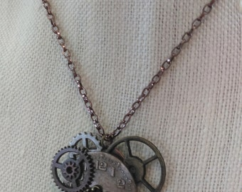 Clockwork Keyhole Necklace
