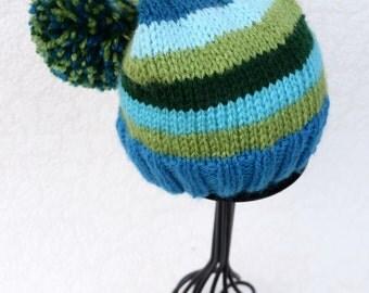 Knitting Elf hat, Elfin Photo Prop, Elfin Newborn Baby Hat, Gnome hat, a striped Elf hat, newborn photo prop