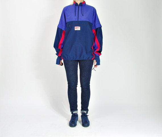 SALE - Dobsom Runner 90 Jogging  Windbreaker Jacket with Hands Protect  / Men size XL Women oversized
