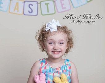 Stuffed Easter Peeps, Crochet Easter Photo Prop, Bunny Rabbit Stuffy, Amigurumi Rabbit, Crochet Peeps