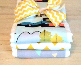 Campsite Burp Cloth Set - Baby Shower Gift