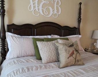 Home Decor, Wooden Monogram, Wall Art, Initial monogram, Unpainted, Unfinished,Wedding Decor