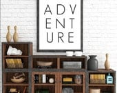 Adventure Print, Travel Decor, Adventure Wall Art, Modern Art, Minimalist Art, Printable Art, Scandinavian, Adventure, Adventure Wall Print