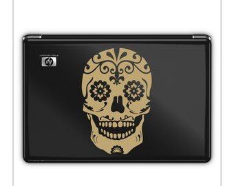 Sugar Skull // Decal // sticker // wall art // day of the dead // car graphics // room decor // emo // gothic // AA09
