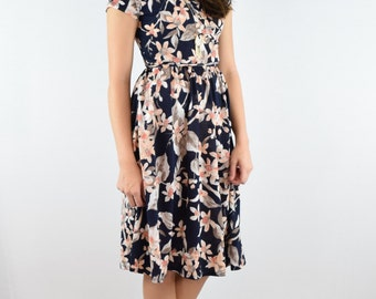 eloges Floral wrap style swing dress S to XL