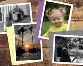 Custom Photo Notecards - Single Image - Set of 12 // Custom Photo Stationery // Folded Notecards // Photo Thank You Note