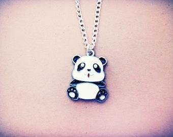 Panda Necklace // Kawaii Cute Panda Necklace // Pastel Grunge Panda Charm Jewelry // Punk Pastel Goth Fairy Kei Emo Kitsch Panda Necklace
