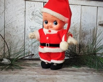 Vintage Santa Clause Kewpie Doll 10 Inch Celluloid Green Wings Made In Japan