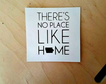 Greeting Card/Birthday Card/Thank You Card/Iowa Card/Iowa 'There's No Place Like Home' Note Card Blank