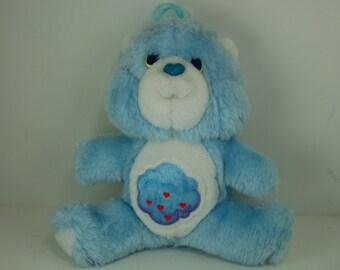 "Vintage Care Bears ""Grumpy Bear"" Plush 6"" Mini Kenner 1985"