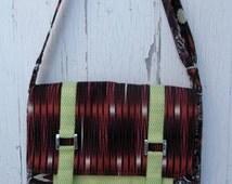 Handmade Modern Burgandy Messenger Bag