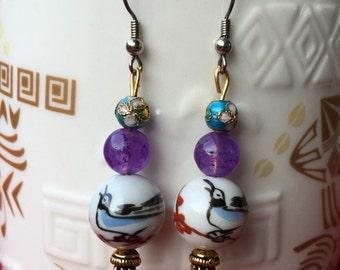 Joyful Bluebird Earrings