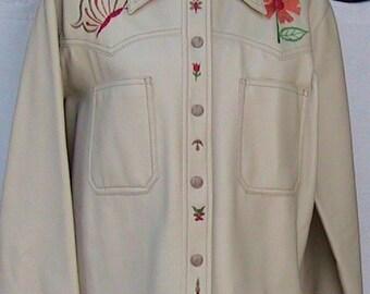 XL Jefue Adorned Leatherlike Jacket