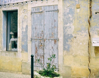 Provence France Europe Photography, French Blue, pale Yellow, Wall Art, Bathroom Decor, European, Country, Travel photo, Fine Art Print