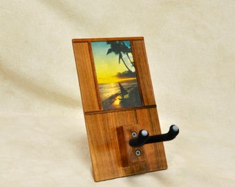 Hawaiian Koa Ukulele Hanger: Sunset Sail