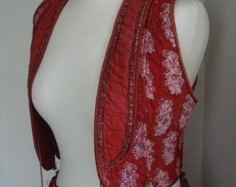 Vintage 1970's PHOOL Indian cotton matching skirt and waistcoat
