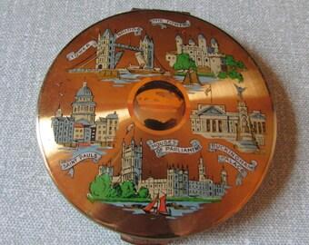 Vintage Kigu London scenes/landmarks powder compact