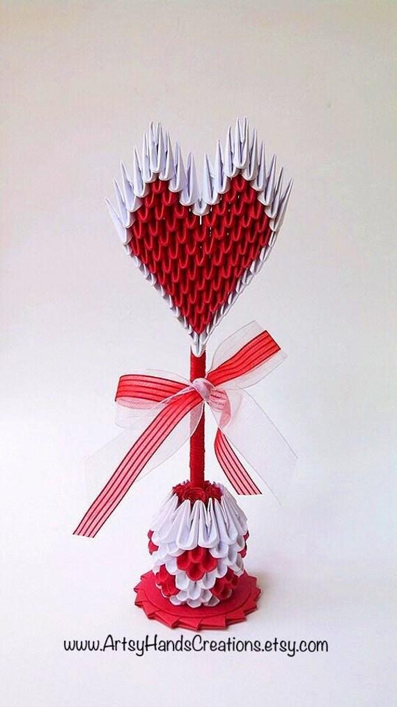 3d origami heart instructions