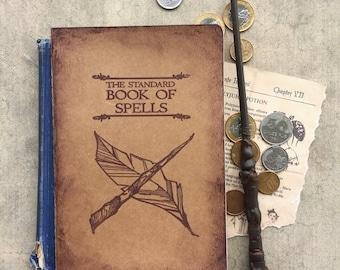Harry Potter Notebook, Harry Potter Sketchbook, Hogwarts Notebook, The Standard Book of Spells, Harry Potter Journal, Harry Potter Gift, HP