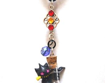 Banette Bottle Necklace, Pokemon necklace, pokemon bottle necklace