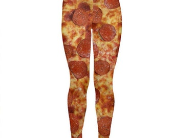 Pepperoni Pizza Leggings