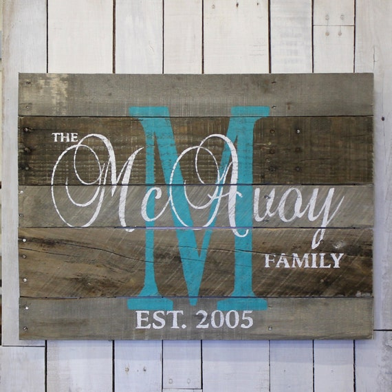 Custom Wedding Gift, Custom Name Sign, Pallet Last Name Wood Sign ...