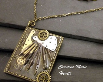 Steampunk Sundial Pendant Necklace