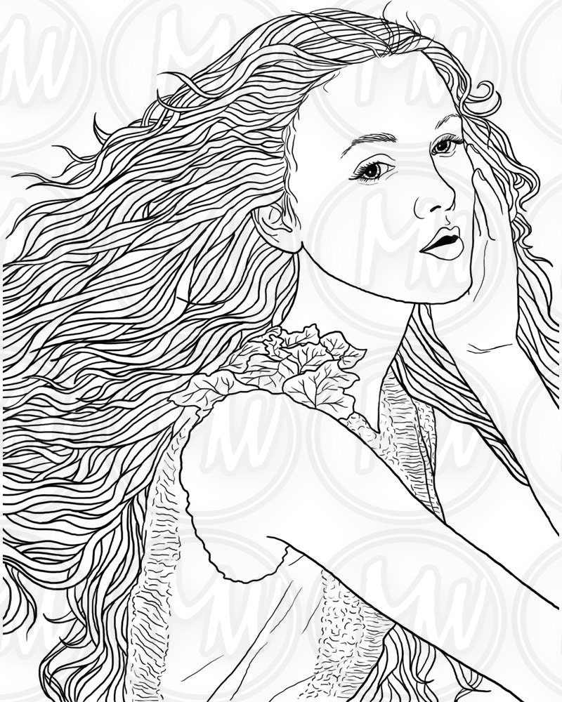 Coloring pages woman -  Zoom